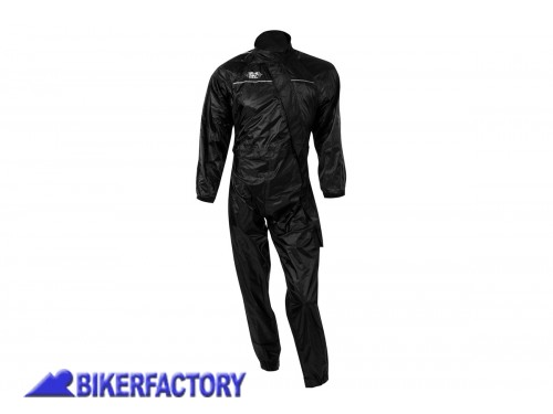 BikerFactory Tuta intera impermeabile OXFORD colore nero 1025119