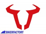 BikerFactory Adesivo logo SW Motech colore rosso 130 mm impermeabile WER.GIV.014.10000 1025022