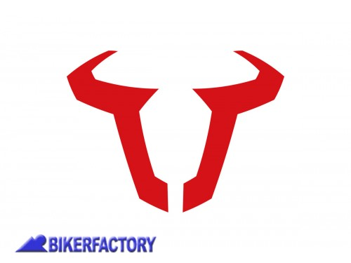 BikerFactory Adesivo logo SW Motech colore rosso 85 mm. impermeabile WER.GIV.015.10000 1025023