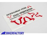 BikerFactory Kit Adesivi SW Motech in varie dimensioni colore nero rosso WER.GIV.016.10001 1033984