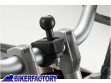BikerFactory Aggancio a manubrio moto universale SW Motech per supporto porta GPS e o accessori RAM ARM GPS.00.308.30100 B 1024651
