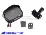 BikerFactory Kit completo SW Motech per aggancio navigatori GPS o componenti elettronici a manubri %C3%98 22mm GPS.00.308.20000 B 1020732