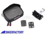BikerFactory Kit completo SW Motech per aggancio navigatori GPS o componenti elettronici a manubri %C3%98 22mm GPS.00.308.20000 S 1020733