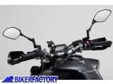 BikerFactory Kit universale SW Motech supporto porta GPS Smartphone fotocamera per manubri e specchietto moto completo di borsina da 5%22 GPS.00.308.30201 B 1026773