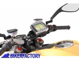BikerFactory Supporto SW Motech base manubrio per GPS con QUICK LOCK per DUCATI StreetFighter 848 dal 2012 in poi. GPS.22.646.10100 B 1019626