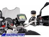 BikerFactory Supporto SW Motech base manubrio per GPS con QUICK LOCK specifico BMW F650 800 GS GPS.07.646.10300 B 1012324