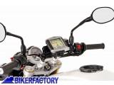 BikerFactory Supporto SW Motech base manubrio per GPS con QUICK LOCK x Triumph Tiger 800 1200 Explorer GPS.11.646.10201 B 1012663