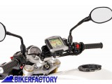 BikerFactory Supporto SW Motech base manubrio per GPS con QUICK LOCK x Triumph Tiger 800 800 XC 1200 Explorer GPS.11.646.10201 B 1012663