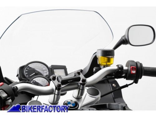supporto base manubrio per gps con quick lock specifico per bmw f 800 r cod. Black Bedroom Furniture Sets. Home Design Ideas