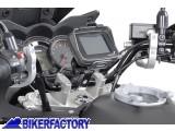 BikerFactory Supporto metallico SW Motech per manubri %C3%98 28 mm per fissaggio navigatori GPS e componenti elettronici GPS.00.308.10200 S 1019755