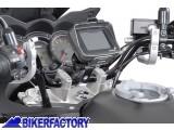 BikerFactory Supporto metallico SW Motech per manubri %C3%9832mm per fissaggio navigatori GPS e componenti elettronici. GPS.00.308.10300 S 1019543