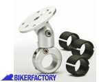 BikerFactory Supporto navigatore ZTechniK per manubri da %C3%9822mm%2C %C3%9826mm%2C %C3%9828mm%2C %C3%9832mm con braccetto snodato. 1001251