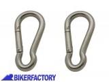 BikerFactory Coppia moschettoni in acciaio 40 mm. 8917 1019457