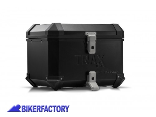 BikerFactory Bauletto TOP CASE in alluminio SW Motech TRAX ION colore nero ALK.00.165.15001 B 1011037