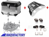 BikerFactory Kit completo Bauletto %28top case%29 in alluminio mod. TRAX EVO %28ALU RACK%29 1004159