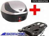 BikerFactory Kit completo Bauletto 28 lt %281 casco%29 SW Motech specifico x SUZUKI DL 650 DL 1000 VSTROM e KAWASAKI KLV 1000 mod. T RaY %22S%22 Basic TRaY.05.036.20001 S 1020435