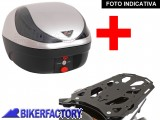 BikerFactory Kit completo Bauletto 28 lt %281 casco%29 specifico x SUZUKI DL 650 DL 1000 VSTROM e KAWASAKI KLV 1000 mod. T RaY %22S%22 Basic TRaY.05.036.20001 S 1020435