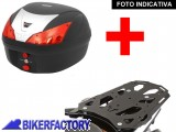 BikerFactory Kit completo Bauletto 28 lt. %281 casco%29 specifico x TRIUMPH TIGER 1200 %28%2712 in poi%29 mod. T Ray %22BASIC%22 TRaY.11.008.20001 B 1019854