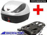BikerFactory Kit completo Bauletto 36 lt %281 casco%29 specifico x SUZUKI DL 650 Vstrom %28%2711 in poi%29 mod. TRaY %22M%22 Basic TRaY.05.030.20001 S 1020397