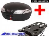 BikerFactory Kit completo Bauletto 48 lt %282 caschi%29 SW Motech specifico x SUZUKI DL 650 DL 1000 VSTROM e KAWASAKI KLV 1000 mod. TRaY %22L%22 Basic TRaY.05.038.20001 B 1020453