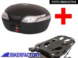 BikerFactory Kit completo Bauletto 48 lt %282 caschi%29 specifico x SUZUKI DL 650 Vstrom %28%2711 in poi%29 mod. TRaY %22L%22 Basic TRaY.05.031.20001 B 1020400