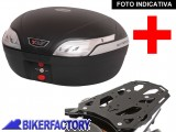 BikerFactory Kit completo Bauletto 48 lt. %282 caschi%29 specifico x TRIUMPH TIGER 1200 %28%2712 in poi%29 mod. T RaY %22L%22 Basic TRaY.11.011.20001 B 1019861