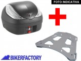 BikerFactory Kit completo Bauletto T RaY Mod. M %2837 lt.%29 e Portapacchi specifico per BMW F650GS e F650GS Paris Dakar TRaY0712A 1004401