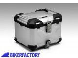 BikerFactory Kit piastra aggancio GPB e bauletto TOP CASE 38 lt in alluminio SW Motech TRAX ADVENTURE colore argento x BMW R 1200 GS Adventure R 1200 GS LC Adventure BAD.07.152.165 S 1033761