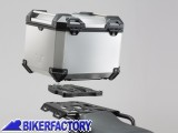 BikerFactory Kit portapacchi %28ALU RACK%29 e bauletto TOP CASE %2838 lt%29 in alluminio SW Motech TRAX ADVENTURE colore ARGENTO x KTM Adventure GPT.04.790.70000 S 1036507