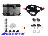 BikerFactory Kit portapacchi %28STEEL RACK%29 e bauletto TOP CASE %2838 lt%29 in alluminio SW Motech TRAX EVO colore ARGENTO x BMW R 1150 GS Adventure %28%2702 %2705%29 . BAU.07.726.20000 S 1033694