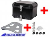 BikerFactory Kit portapacchi %28STEEL RACK%29 e bauletto TOP CASE %2838 lt%29 in alluminio SW Motech TRAX EVO colore NERO x BMW R 1150 GS Adventure %28%2702 %2705%29 . BAU.07.726.20000 B 1003254