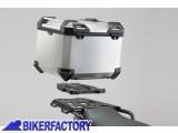 BikerFactory Kit portapacchi %28ALU RACK%29 e bauletto TOP CASE %2838 lt%29 in alluminio SW Motech TRAX ADVENTURE colore ARGENTO x BMW R 1200 GS LC %28%2712 in poi%29 GPT.07.782.70000 S 1036165