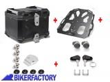 BikerFactory Kit portapacchi %28STEEL RACK%29 e bauletto TOP CASE %2838 lt%29 in alluminio SW Motech TRAX ADVENTURE colore NERO BAD.22.139.20003 B 1033480