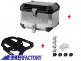 BikerFactory Kit portapacchi %28STEEL RACK%29 e bauletto TOP CASE %2838 lt%29 in alluminio SW Motech TRAX EVO colore ARGENTO x TRIUMPH Tiger Explorer 1200 BAU.11.482.20001 S 1019833