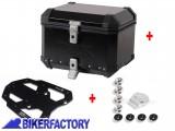 BikerFactory Kit portapacchi %28STEEL RACK%29 e bauletto TOP CASE %2838 lt%29 in alluminio SW Motech TRAX EVO colore NERO x TRIUMPH Tiger Explorer 1200 BAU.11.482.20001 B 1033739