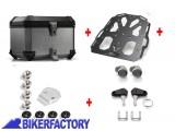 BikerFactory Kit portapacchi %28STEEL RACK%29 e bauletto TOP CASE %2838 lt%29 in alluminio SW Motech TRAX EVO x SUZUKI DL 650 1000 V Strom e KAWASAKI KLV 1000 1019731
