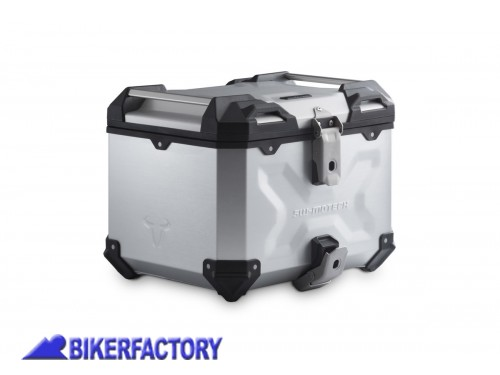 BikerFactory Kit portapacchi ADVENTURE RACK e bauletto TOP CASE 38 lt in alluminio SW Motech TRAX ADVENTURE colore argento x YAMAHA T%C3%A9n%C3%A9r%C3%A9 700 %28%2719 in poi%29 GPT.06.799.70000 S 1042688