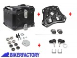 BikerFactory Kit portapacchi ADVENTURE RACK e bauletto TOP CASE 38 lt in alluminio SW Motech TRAX ADVENTURE colore nero per BMW F 650 GS TWIN F 700 GS F 800 GS F 800 GS Adventure GPT.07.558.70000 B 1036499