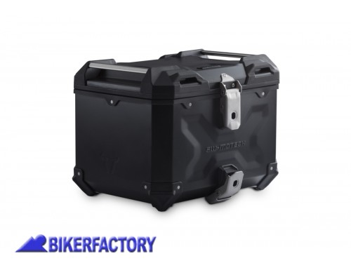 BikerFactory Kit portapacchi ADVENTURE RACK e bauletto TOP CASE 38 lt in alluminio SW Motech TRAX ADVENTURE colore nero per BMW R 1200 GS LC Adv BMW R 1250 GS Adv GPT.07.904.70000 B 1044498