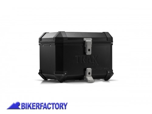 BikerFactory Kit portapacchi ADVENTURE RACK e bauletto TOP CASE 38 lt in alluminio SW Motech TRAX ION colore nero per TRIUMPH Tiger 900 GT Rally Pro %28con portapacchi originale%29 BAU.11.953.19000 B 1044504