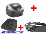 BikerFactory Kit portapacchi ALU RACK e bauletto T RaY 36 lt SW Motech x BMW F 650 CS Scarver TRY.07.375.100.02 B 1036642