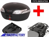 BikerFactory Kit portapacchi ALU RACK e bauletto T RaY 48 lt SW Motech x BMW F 650 CS Scarver TRY.07.375.100.03 B 1036643