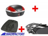 BikerFactory Kit portapacchi ALU RACK e bauletto T RaY 50 lt SW Motech x HONDA CBR 125 R TRY.01.323.100.04 B 1034024