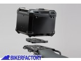 BikerFactory Kit portapacchi ALU RACK e bauletto TOP CASE 38 lt in alluminio SW Motech TRAX ADVENTURE colore nero x BMW R 1200 GS LC Rallye GPT.07.782.70000 B 1036164