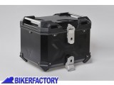 BikerFactory Kit portapacchi ALU RACK e bauletto TOP CASE 38 lt in alluminio SW Motech TRAX ADVENTURE colore nero x HONDA VFR 1200 X Crosstourer GPT.01.661.70000 B 1036717