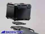 BikerFactory Kit portapacchi ALU RACK e bauletto TOP CASE 38 lt in alluminio SW Motech TRAX ADVENTURE colore nero x KTM 1050 Adventure 1190 Adventure R 1290 Super Adventure S GPT.04.790.70000 B 1036506