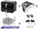 BikerFactory Kit portapacchi ALU RACK e bauletto TOP CASE 38 lt in alluminio SW Motech TRAX ION colore nero per BMW F 650 GS TWIN F 700 GS F 800 GS F 800 GS Adventure BAU.07.558.15000 B 1040348