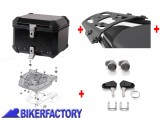 BikerFactory Kit portapacchi ALU RACK e bauletto TOP CASE 38 lt in alluminio SW Motech TRAX ION colore nero x KTM 950 SuperMoto BAU.04.526.100 B 1034206