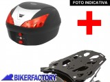 BikerFactory Kit portapacchi STEEL RACK e bauletto T RaY 28 lt SW Motech x HONDA VFR 1200 X Crosstourer TRY.01.661.20003.01 B 1033816