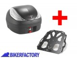 BikerFactory Kit portapacchi STEEL RACK e bauletto T RaY 36 lt SW Motech x KAWASAKI KLR 650 TRY.08.365.20000.02 B 1033912